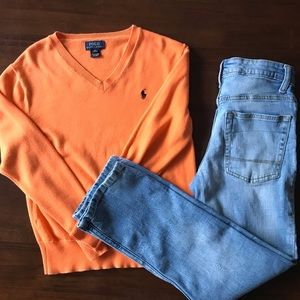 Polo sweater and jeans bundle for boy